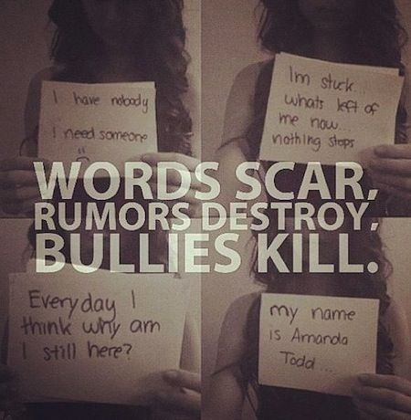 BullyVille - R.I.P. Amanda Todd  i remember watching her video and finding out she committed suicide.