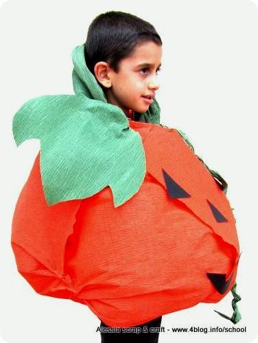 Io e i Piccolini Barilla: il costume da zucca di Halloween
