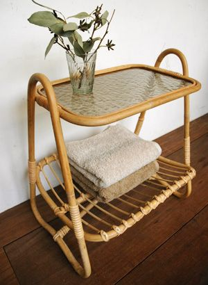 Rattan 2 Tier Side Table From Truck Furniture