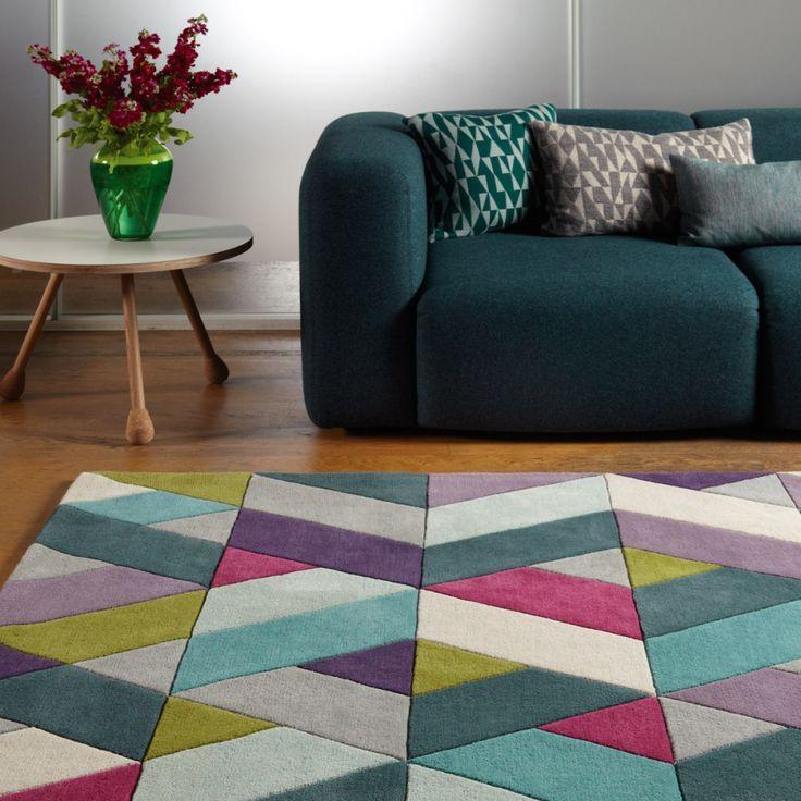 ... et une touche moderne multicolore tapis multicolore tapis moderne main