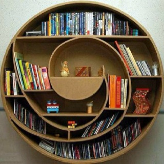 Bookcase made of cardboard.what?: Decor, Bookshelves, Book Shelf, Ideas, Bookcases, Bookshelf, Book Shelves, House, Design