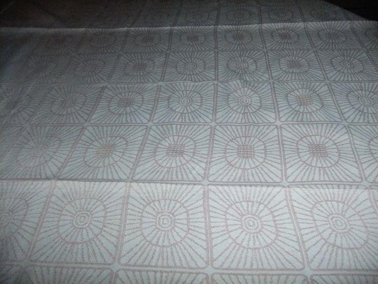 Vintage Linen damask tablecloth Sirkka by Tampella Finland Dora Jung design by AnnChristinsVintage on Etsy