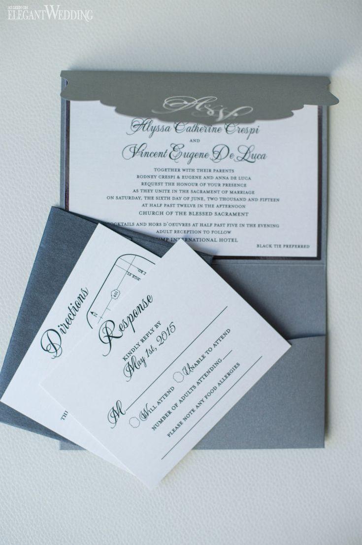 Luxurious black and white wedding invitations wedding