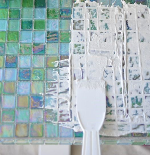 Tile A Table Top Using Thinset; Use On Backyard Table U0026 Combine Scavenged  Tiles With