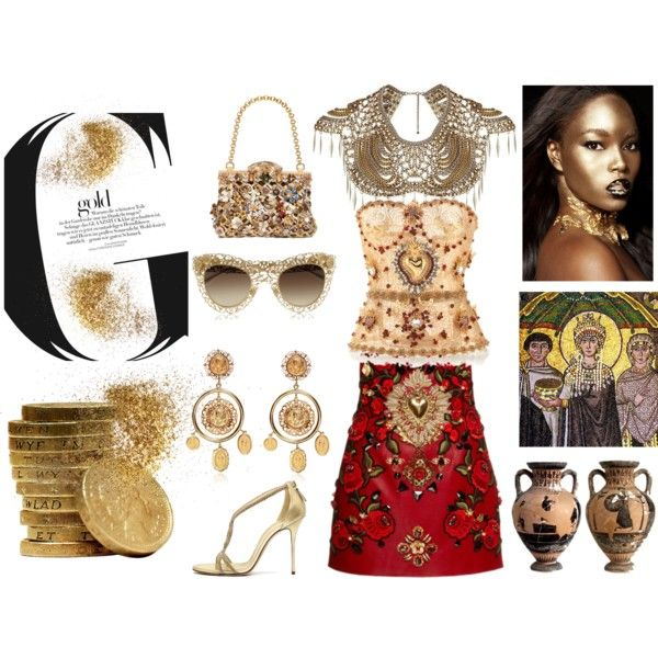 """gold star"" by alvufashionstyle on Polyvore"