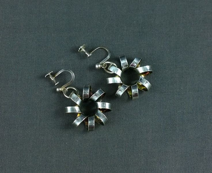 Vintage Sterling Silver Anna Greta Eker Earrings Norway ND PLUS