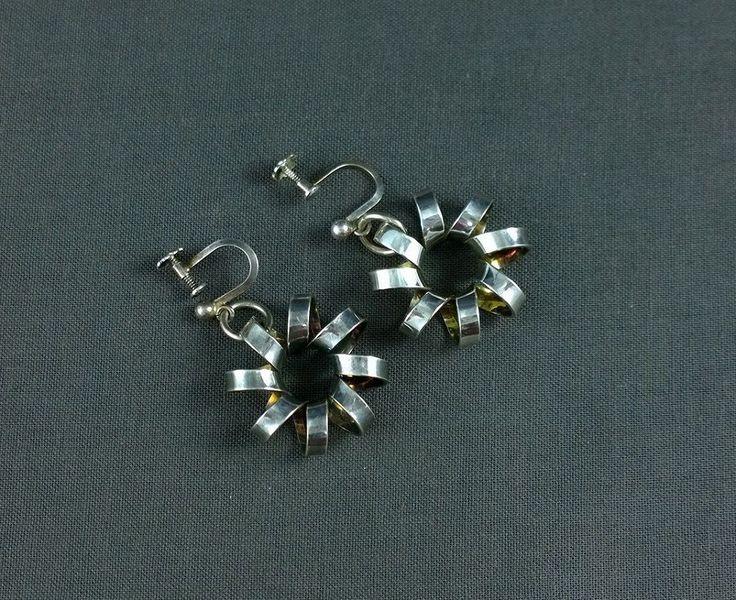 Vintage Sterling Silver Anna Greta Eker Earrings Norway ND PLUS