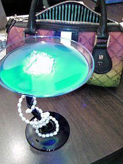 Recipes from Disney World! Blue Glotini, a Disney specialty drink!