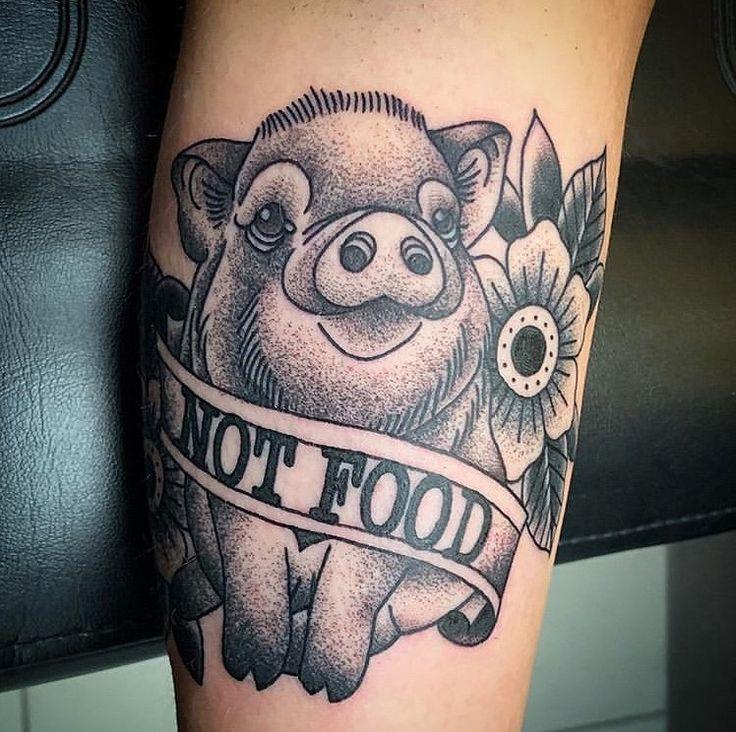 "VEGAN TATTOOS on Instagram ""Not Food By onechancetattoo"