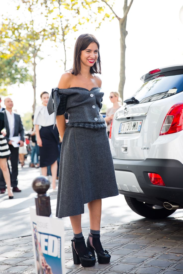 still love that outfit. #NatashaGoldenberg in Paris.