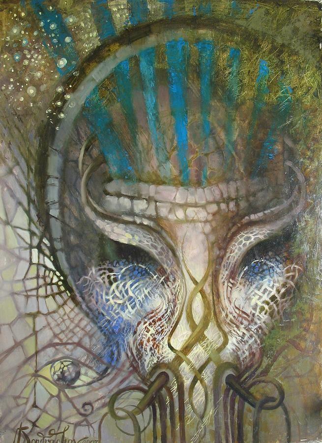 Set Painting - Egyptian God Set by Valentina Kondrashova