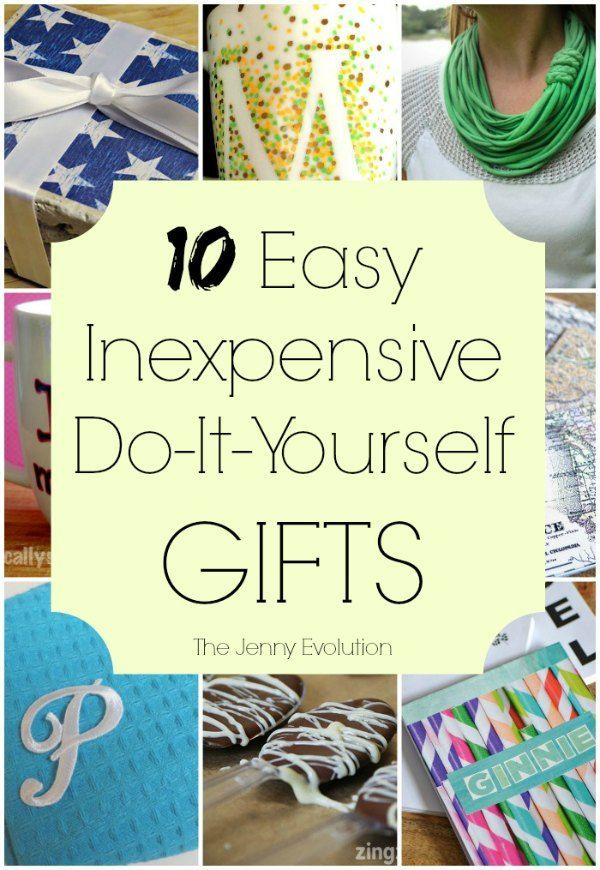 Easy Inexpensive DIY Gifts - Perfect for Christmas, birthdays and