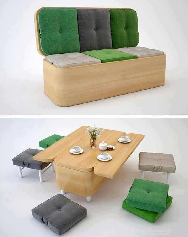 Dual purpose couch/diner  Great for the kid's room :)