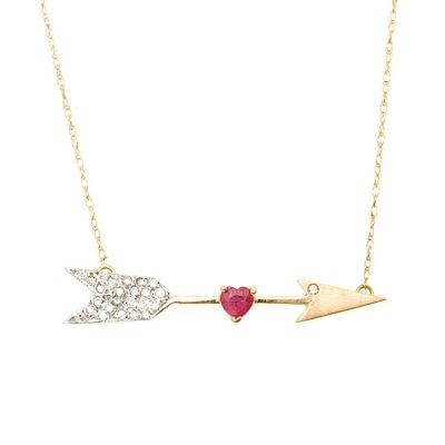 pretty: Ruby Necklaces, Arrows Heart, Heart Necklaces, Cupid Diamonds, Heart Diamonds, Gold Rubyheart, Valentines Day Gifts, Rubyheart Ruby, Annette Cupid