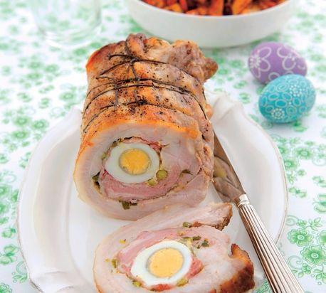 Bravčová roláda s vaječnou plnkou