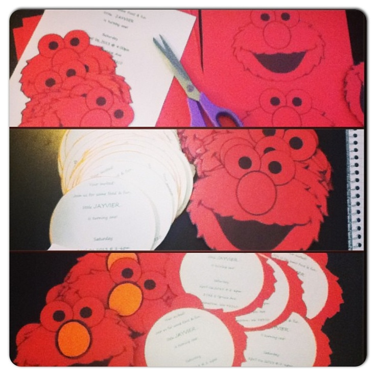 DIY: Elmo Invites