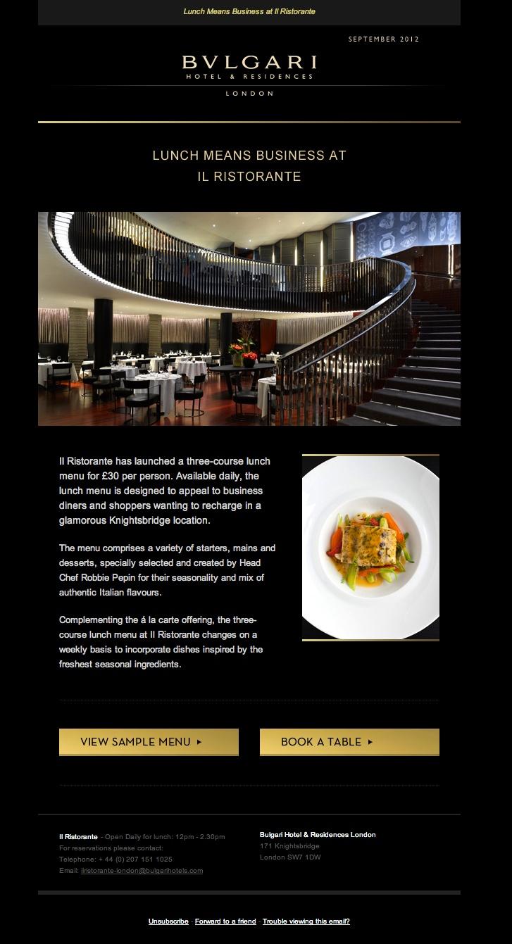 Our design for Bulgari Hotel