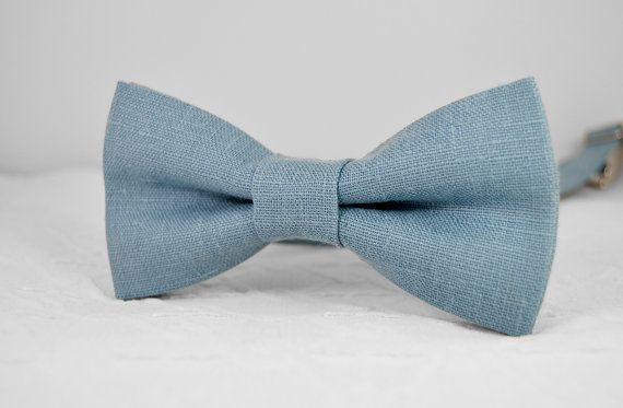 Steel blue bow tie dusty blue bow tie  grey blue от MrFoxBowTies