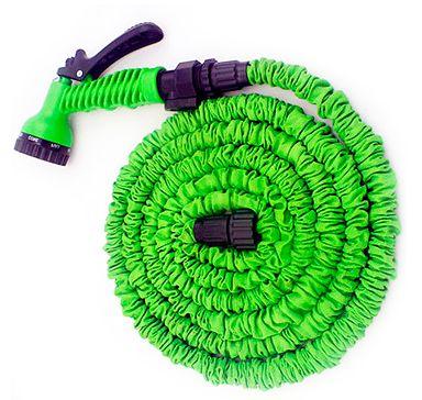 Шланг увеличивается под давлением воды, рекомендуем использовать совместно с Пистолетом - распылителем XHose или аналогичными распылителями! Один распылитель можно использовать на несколько шлангов.
