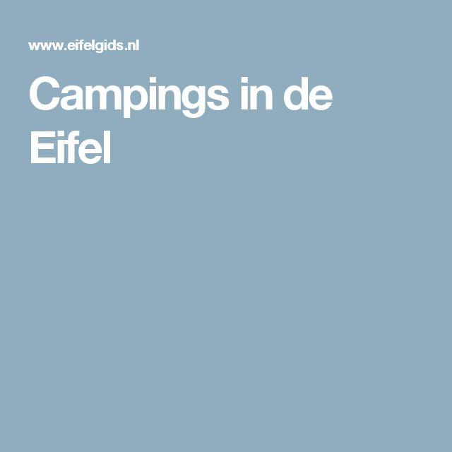 Campings in de Eifel
