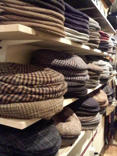 Flat Caps , Five Point Ivy's , Eight Quarters , Newsboys , Duck Bill Ivy's! Stacks and stacks of Tweeds from Italy! Come check out our larg...