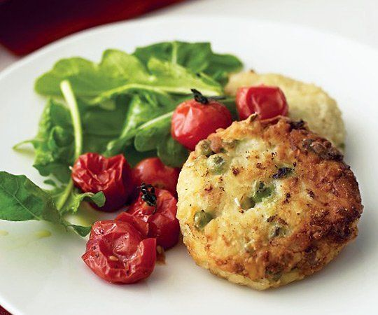 Risotto cakes with leftover risotto