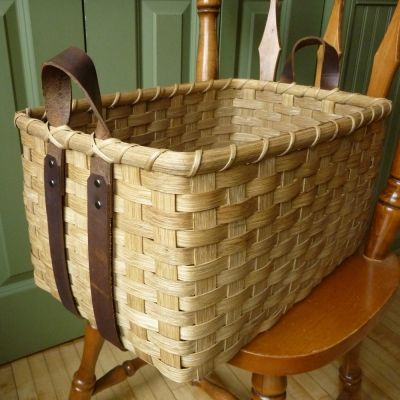 *Leather Handled Storage Basket Weaving Class - Joanna's Collections