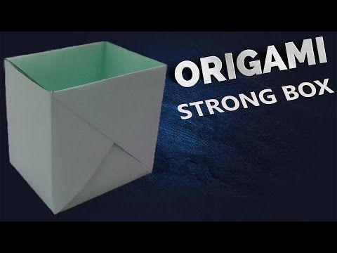 "How to make a Paper ""Strong Dual Tone Box"" using A4 paper - Useful Origami tutorial - YouTube"
