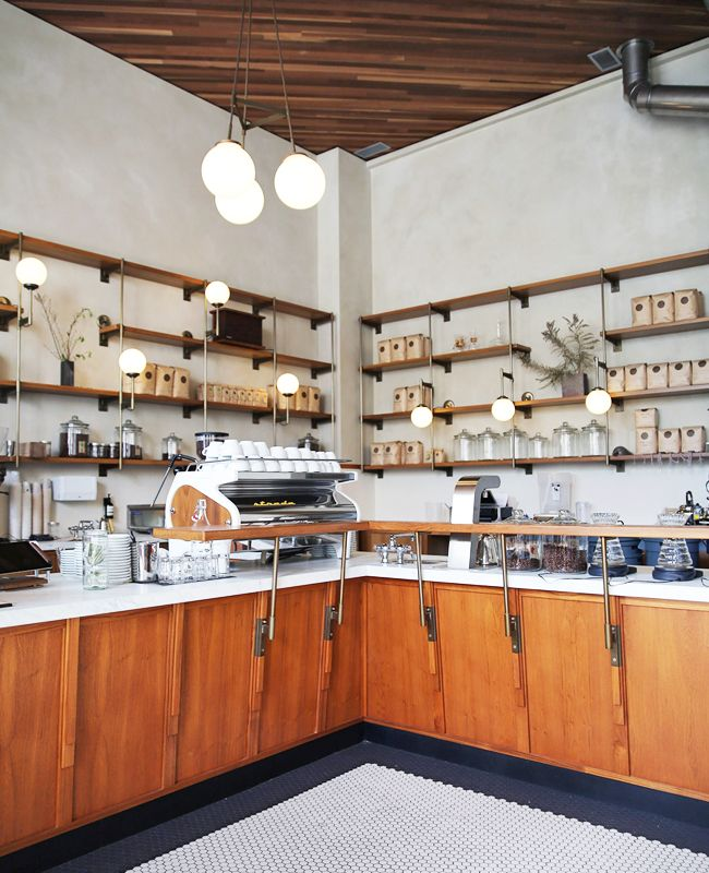Sightglass Coffee in San Francisco is on a strip of 20th St. with tons of restaurants, galleries, and street art.