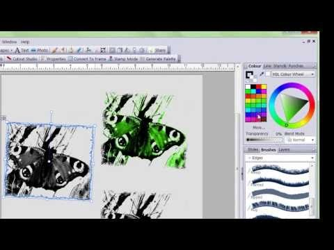 Serif CraftArtist 2-Turning A photo Into A digistamp - YouTube
