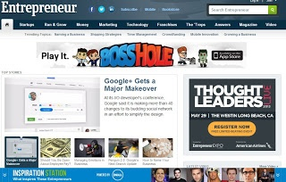 Entrepreneur this site provides information about the world of entrepreneurship.
