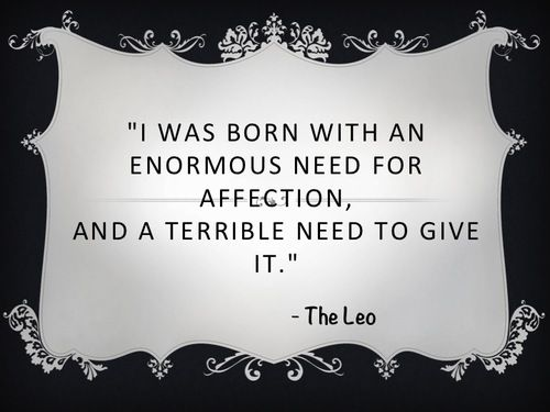 Image result for leo quotes