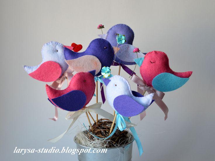Larysa's Studio: Шьем вместе... птички из фетра