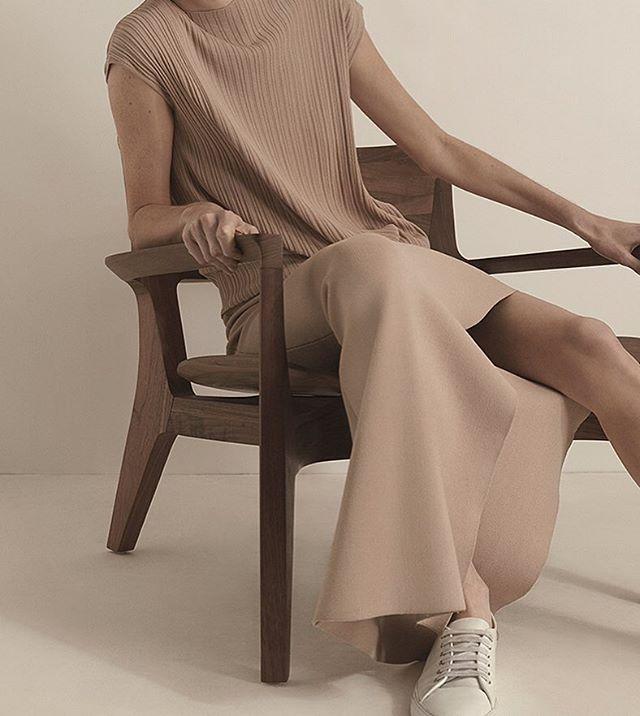 joseph fashion beige minimal skirts and top Spring Summer 2016