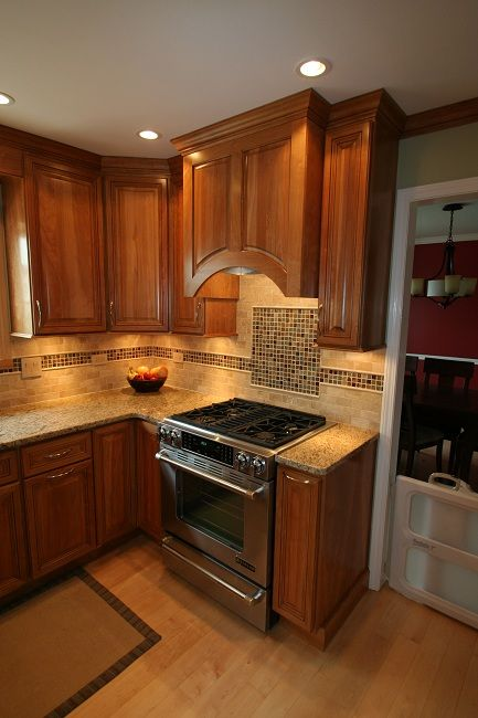 natural maple cabinets with granite   Google Search ...