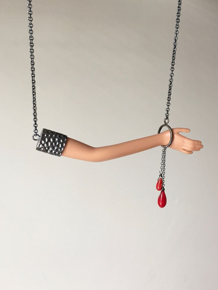 Image of Blood Coral Arm Necklace