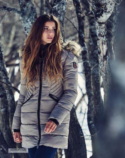 larga y modelo mujer con Akshav extraible Parka capucha Parka pelo xqPOAHww