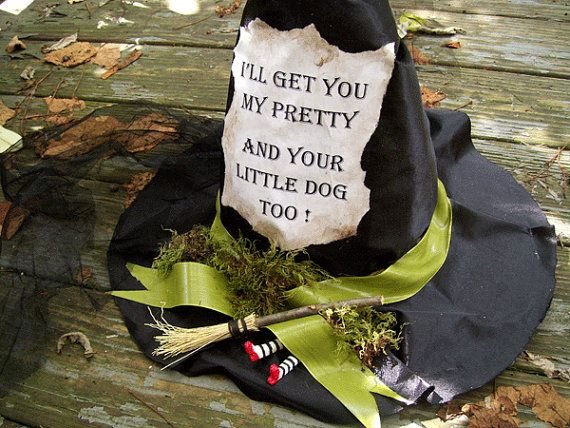 WITCH HAT Wizard of Oz Holiday Decoration WICKED Witch by Oddsurd