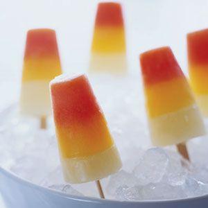 Triple-decker Citrus Popsicles Recipe | Orange ice pops