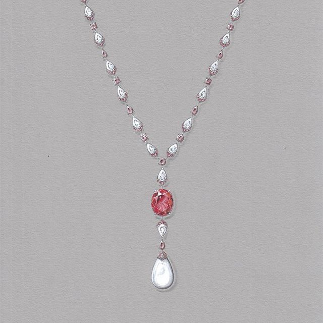 A few weeks ago we showed a sneak peek of the Sunset Ruby and Natural Pearl incorporated in this item. Our craftsman have been busy working on it since, but we are happy to show you the final piece in our story of today! If you want to see it in person, you can visit our London New Bond Street flagship store #thelondonjeweller #sunsetruby #naturalpearl #rarejewellery
