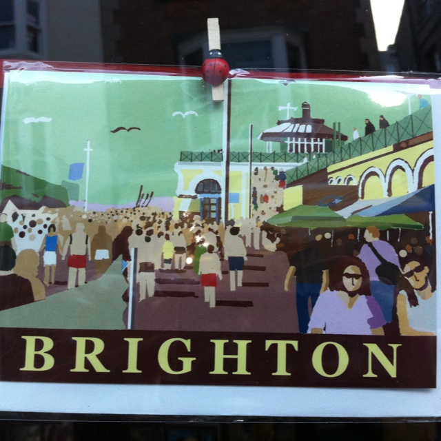 Vintage Postcard from a shop window in Brighton