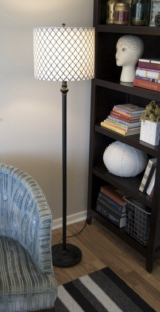 How To Turn a Tapered Lamp Shade into a Drum Shade   Apartment Therapy