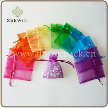 Alibaba: $0.30/50 Shiny organza fabric Jewelry gift bag