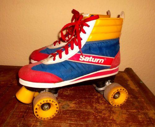 vintage-70-s-SATURN-Rollschuhe-DISCOROLLER-line-skates-Rollerblades-Gr-40