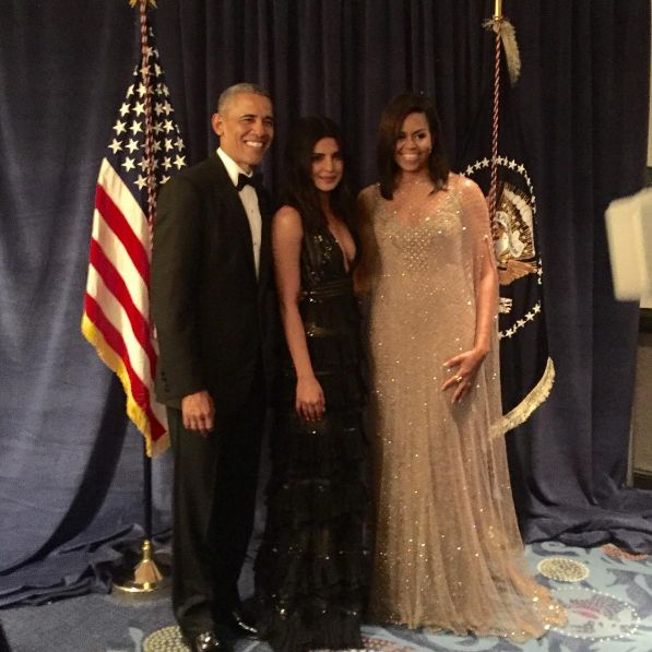 She also 'grammed this picture from the night, where she met the President of The United States Barack Obama and the First Lady Michelle Obama. | Photos Of Priyanka Chopra Looking Gorgeous AF At The White House...