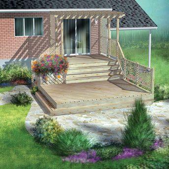 Construire une terrasse a deux niveaux