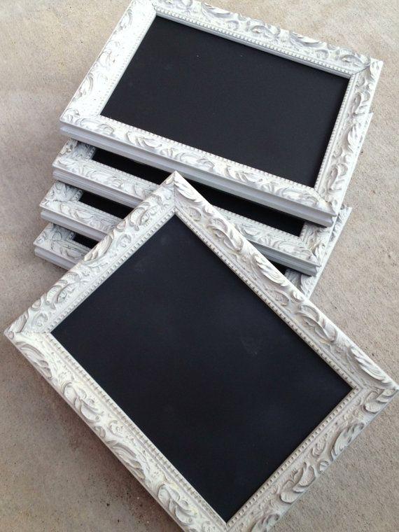 CHALKBOARD TABLE NUMBERS Framed Chalk Board by FrameItbyJill, $32.00