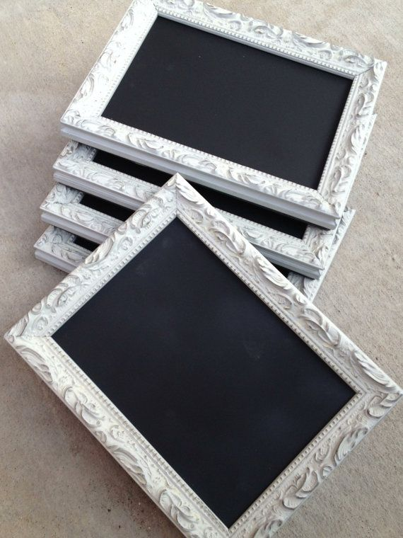CHALKBOARD TABLE NUMBERS Framed Chalk Board by FrameItbyJill, $32.00