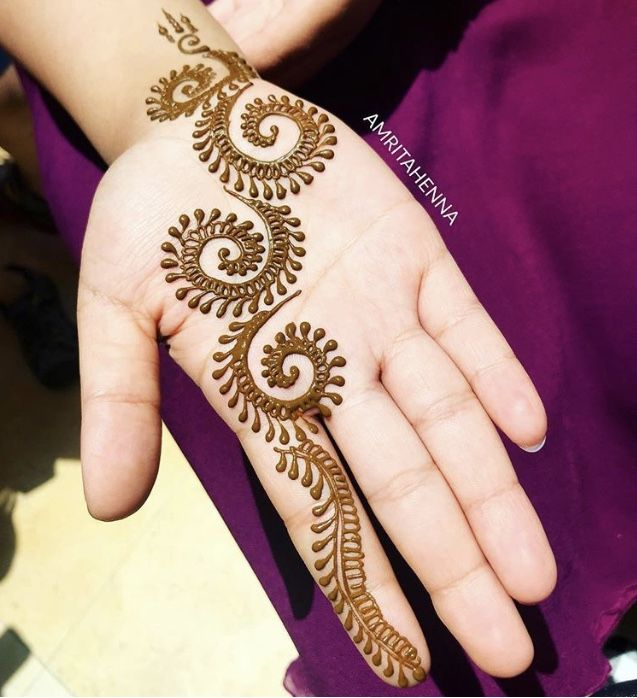 Amritahenna Beautiful Mehendi In Natural Henna Mehndi Designs