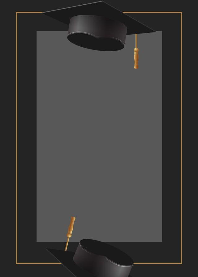 Black Gold Graduation Cap Graduation Background Em 2020 Chapeu